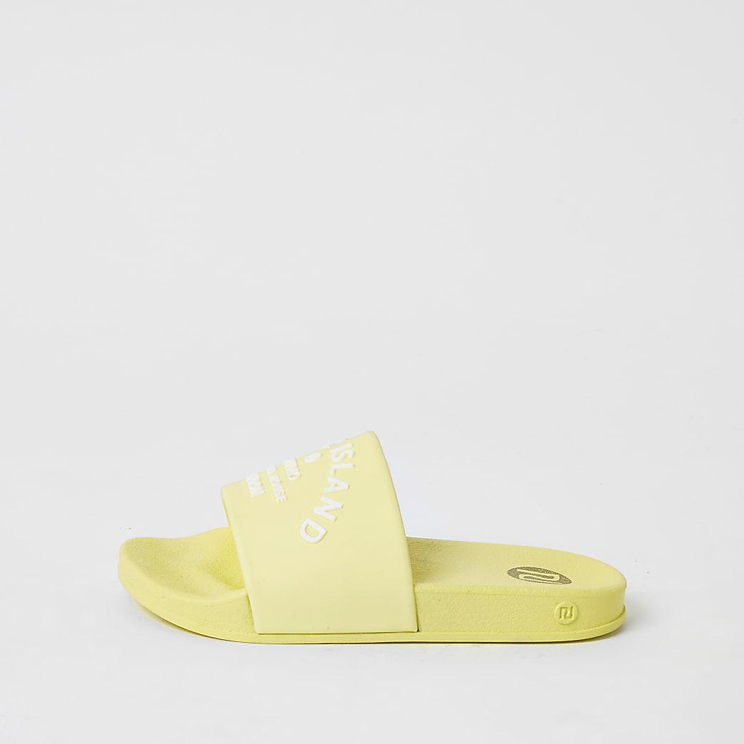 Girls yellow RI studio jelly sliders