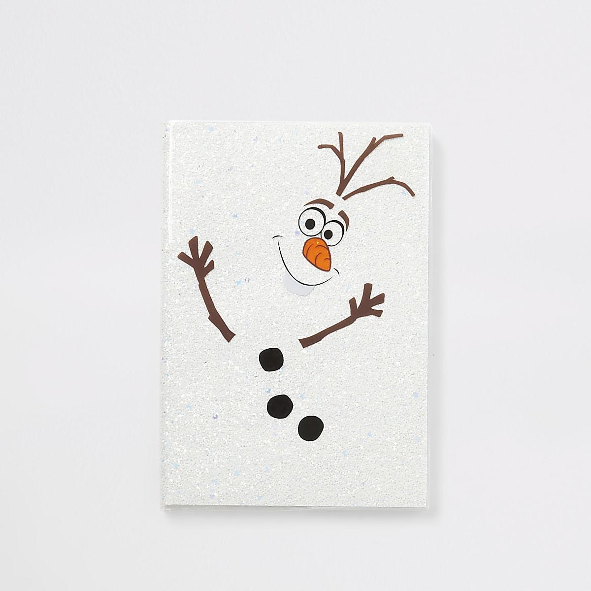 Frozen Olaf sparkle notebook