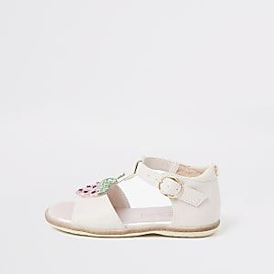 Mini – Pinke Strawberry-Sandale für Mädchen