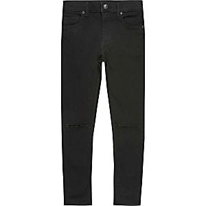 Danny – Schwarze Skinny Jeans im Used-Look für Jungen