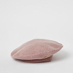 Mini – Rosa Baskenmütze für Mädchen