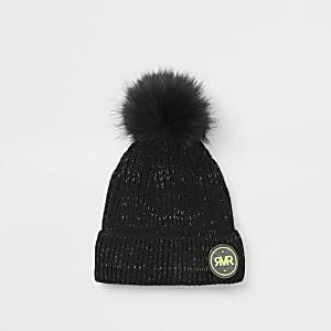 Schwarze RVR-Beanie-Mütze für Jungen