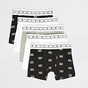 Mini – Schwarze Boxershorts für Jungen im5er Pack von RI