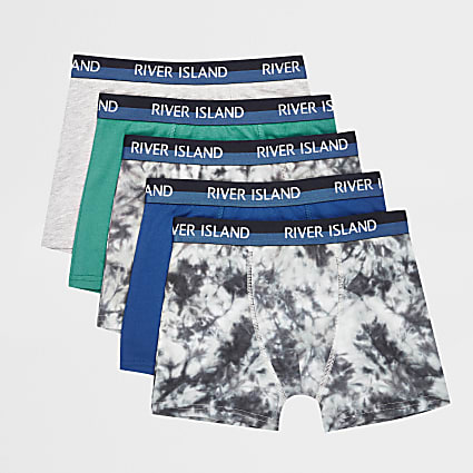 Boys blue RI boxers 5 pack