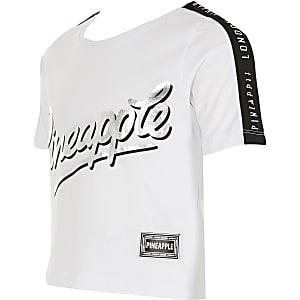 T-shirt court Pineappleblanc imprimé pour fille