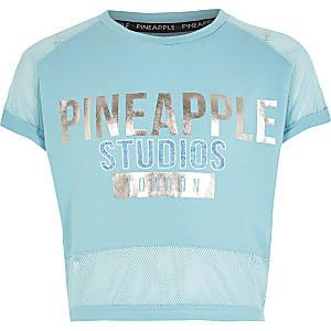 Pineapple - T-shirt en résillebleu imprimépour fille