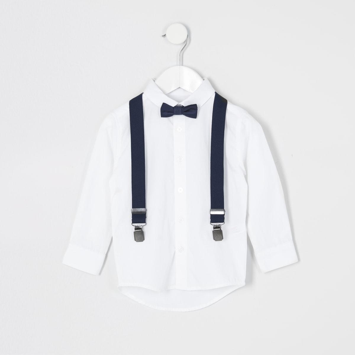 Tenue avec chemise blanche et nœud papillon Mini garçon