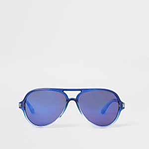 Mini boys blue aviator sunglasses
