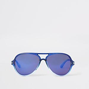Lunettes de soleil aviateur bleues Mini garçon