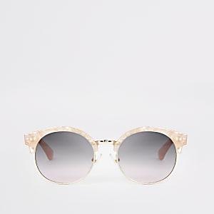Lunettes de soleil rondes rose quartz pour fille