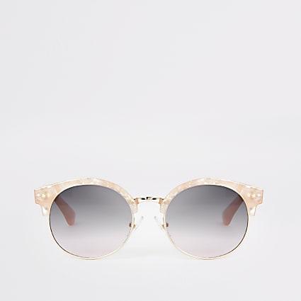 Girls pink quartz round sunglasses