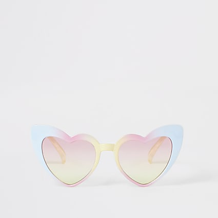 Mini girls pink heart shaped sunglasses
