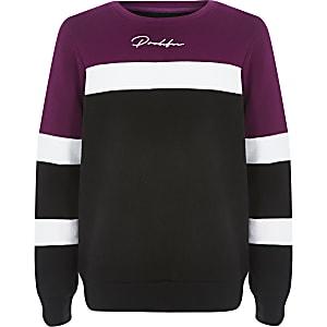 Prolific - Paars sweatshirt met kleurvlakken voor jongens
