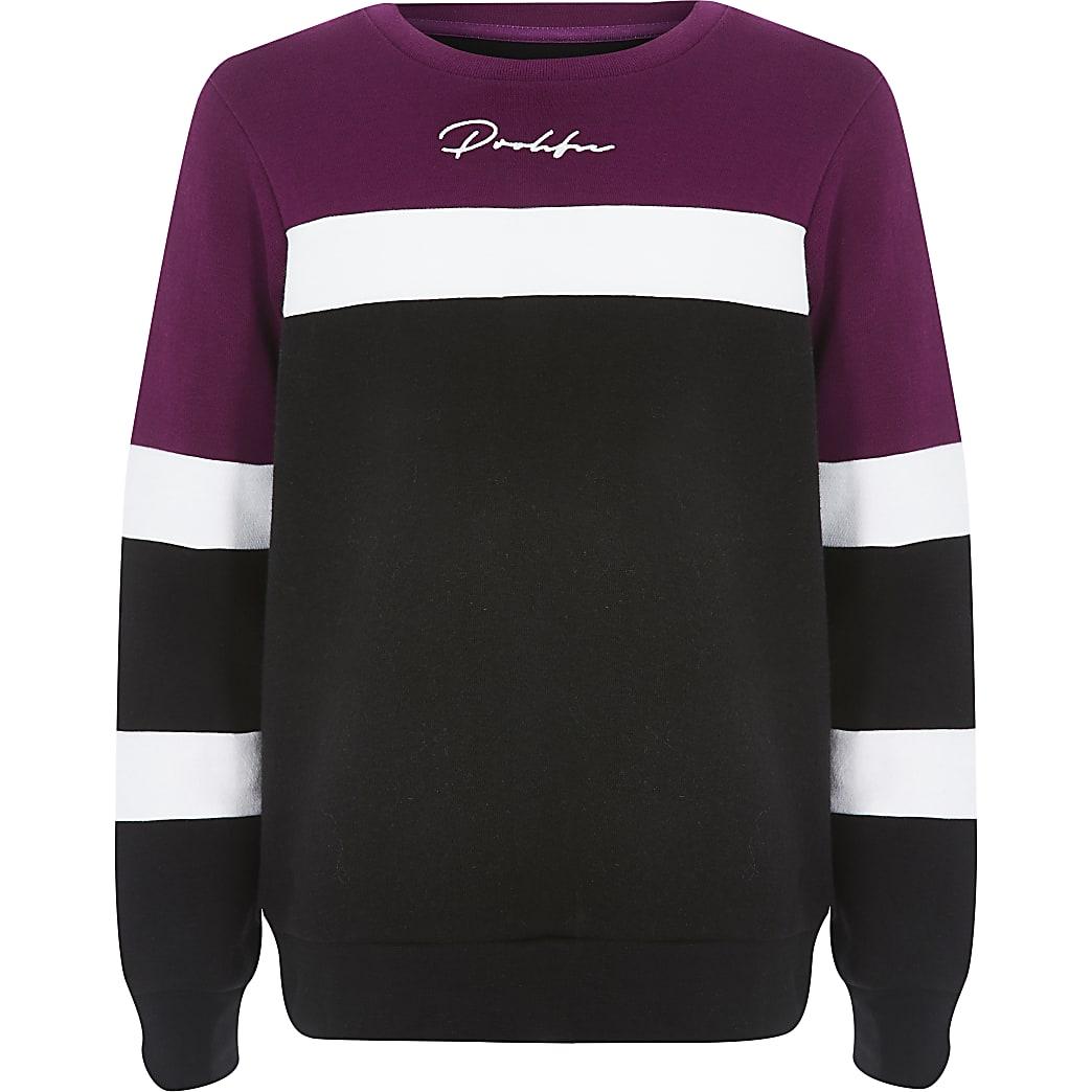 Boys purple colour block Prolific sweatshirt