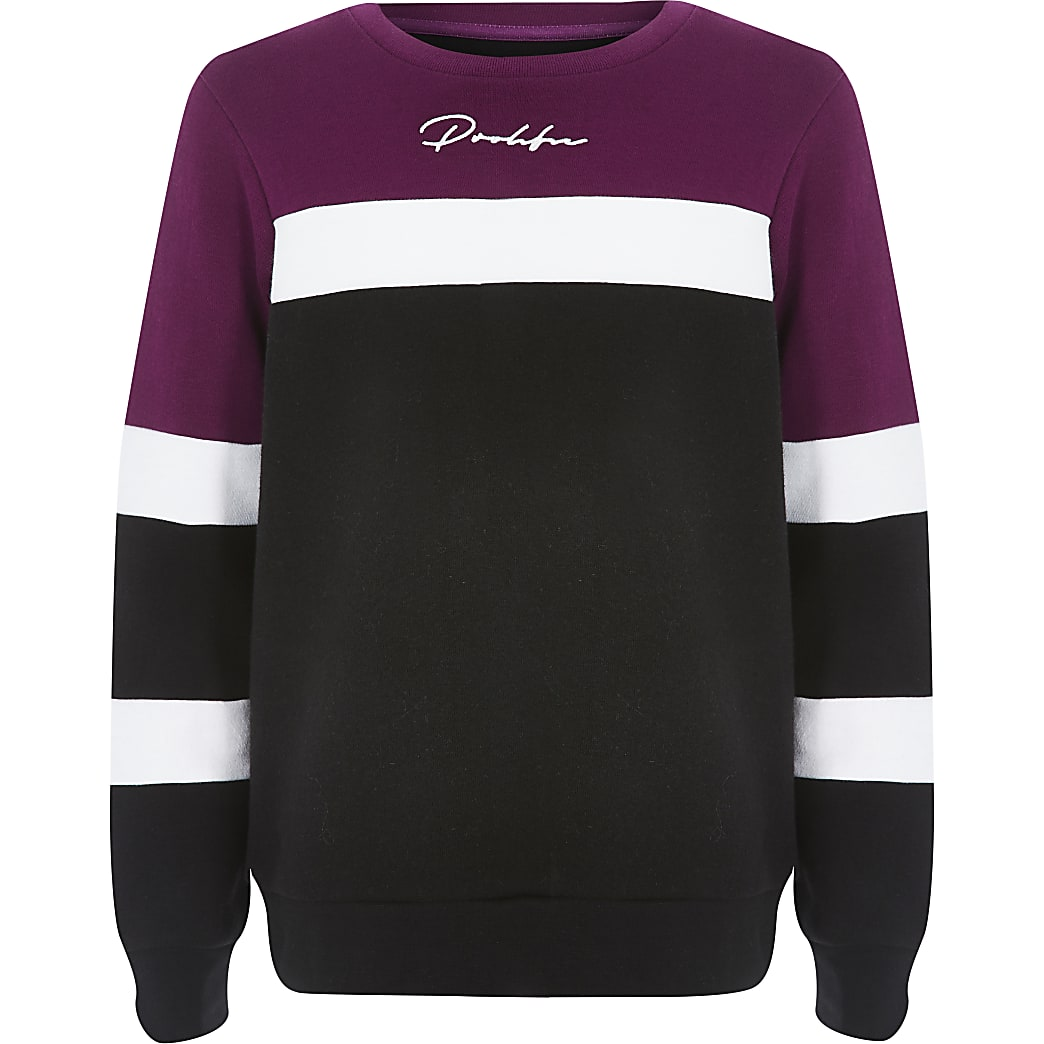 Sweat Prolific violet colour block pour garçon