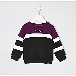 Prolific – Lila Sweatshirt in Blockfarben für kleine Jungen