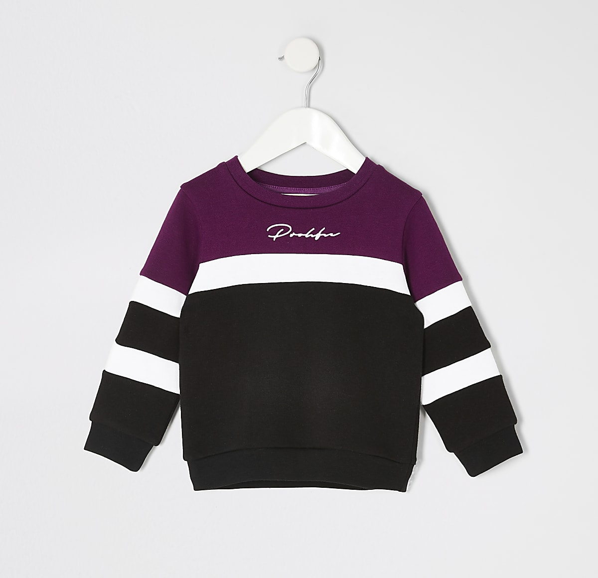 Mini boys purple blocked Prolific sweatshirt