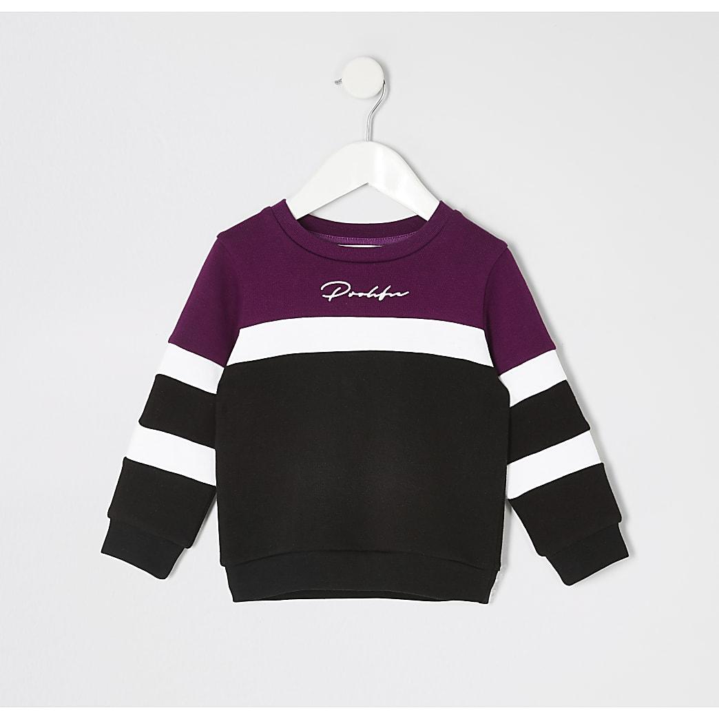 Mini boys purple blocked Prolific sweatshirt