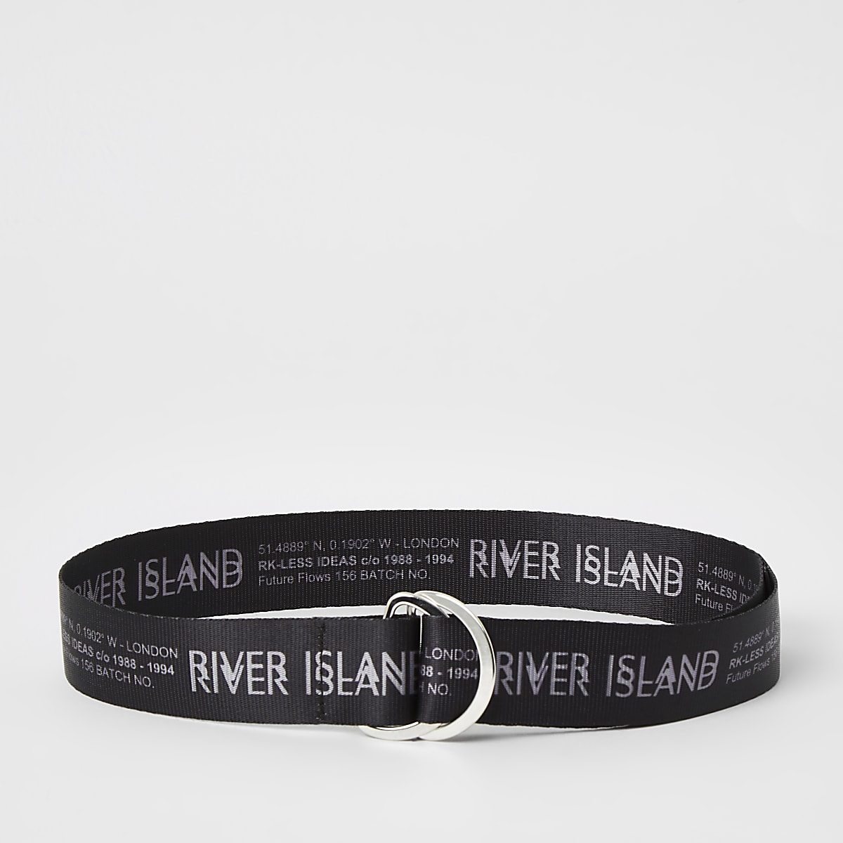 Boys black RI printed belt