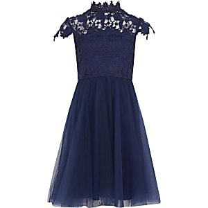 Chi Chi- Ailish - Robe en dentelle bleu marine pour fille