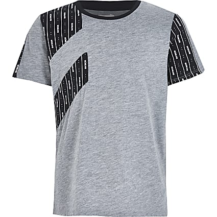 Boys grey MCMLVXII blocked T-shirt