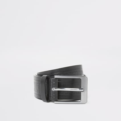 Boys black RI embossed belt