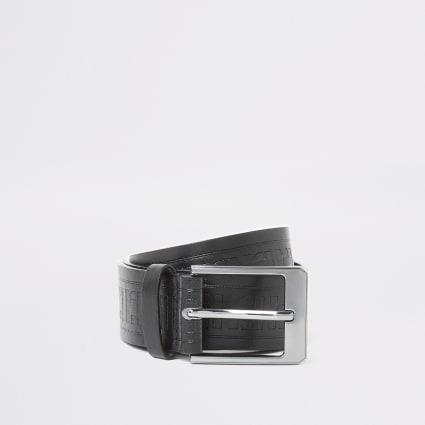 Boys black RI embossed belt
