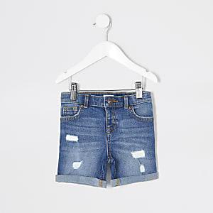 Mini boys blue Dylan slim denim shorts