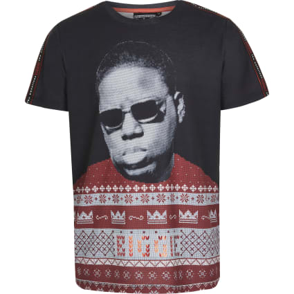 Boys Notorious B.I.G black Christmas T-shirt