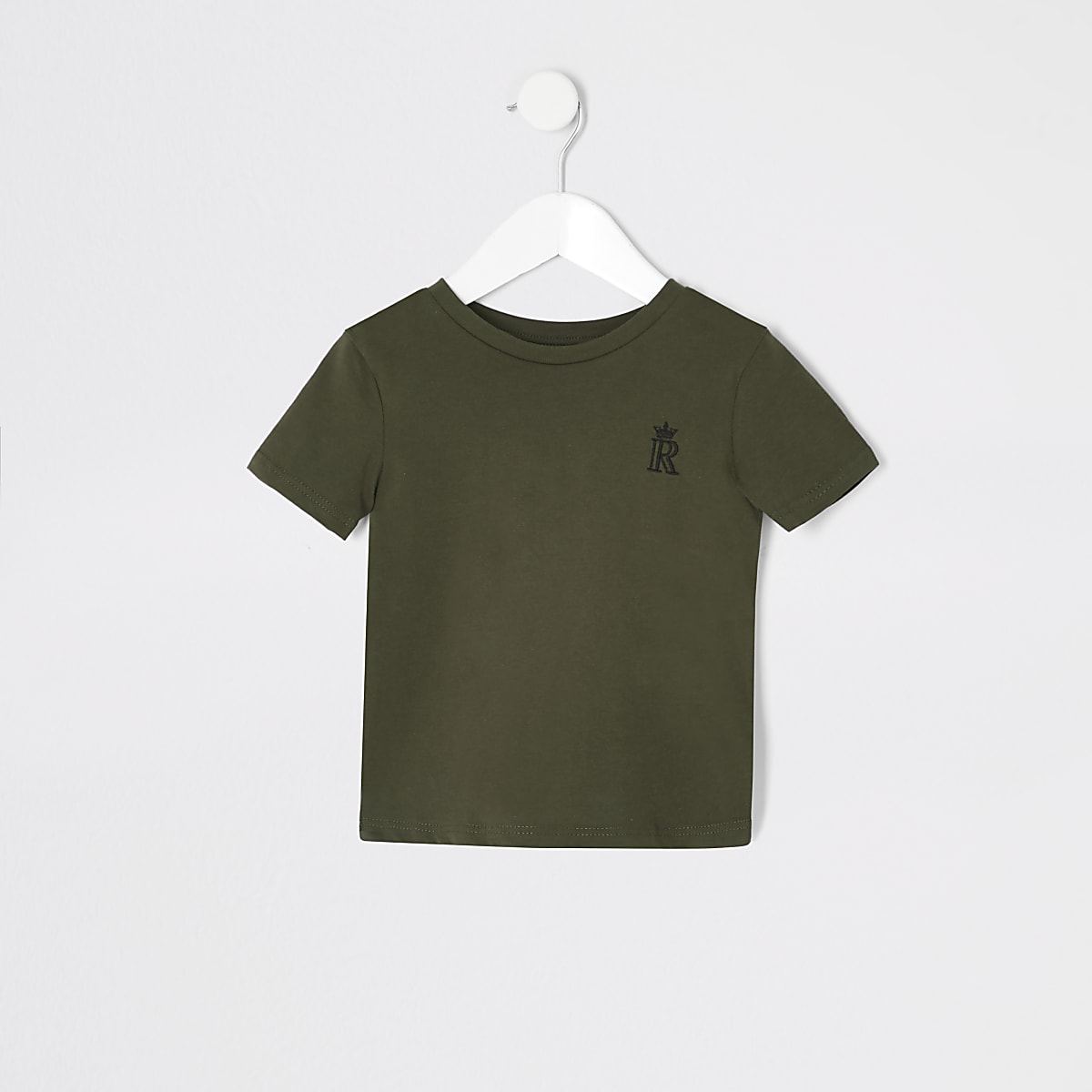 Mini boys khaki RI crown T-shirt