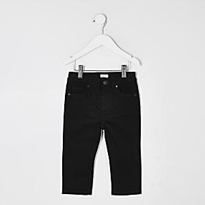 Mini – Jake – Schwarze Regular Fit Jeans für Jungen