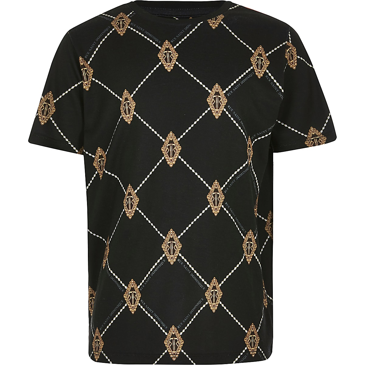 Boys black diamond RI T-shirt