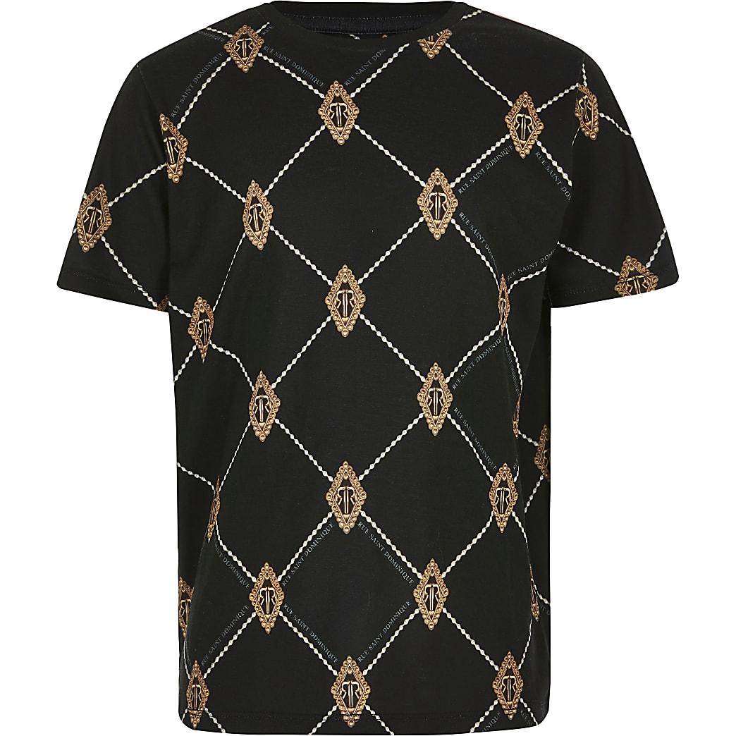 Boys black diamond RI T-shirt