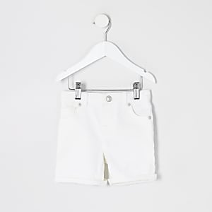 Dylan – Short slim en denim blanc Mini garçon