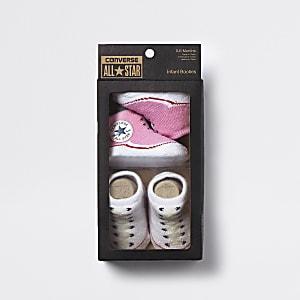 Pinke Schuhsocken von Converse, 2er-Set