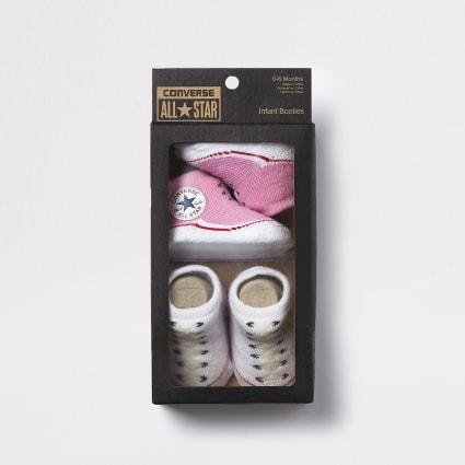 Baby Converse pink sock boots 2 pack