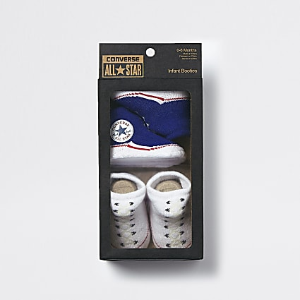 Baby Converse blue sock boots 2 pack