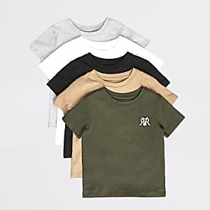 Mini – RVR-T-Shirt für Jungen in diversen Farben, 5er-Set