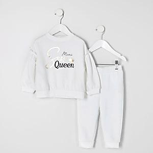 """Weißes """"Sass Queen""""-Outfitfür kleine Mädchen"""