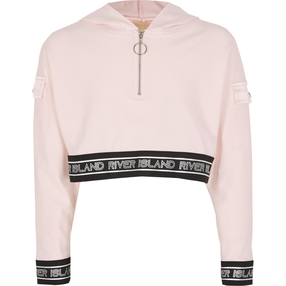 RI Active- Roze sweater hoodie voor meisjes