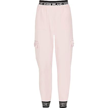 Girls light pink RI Active utility joggers