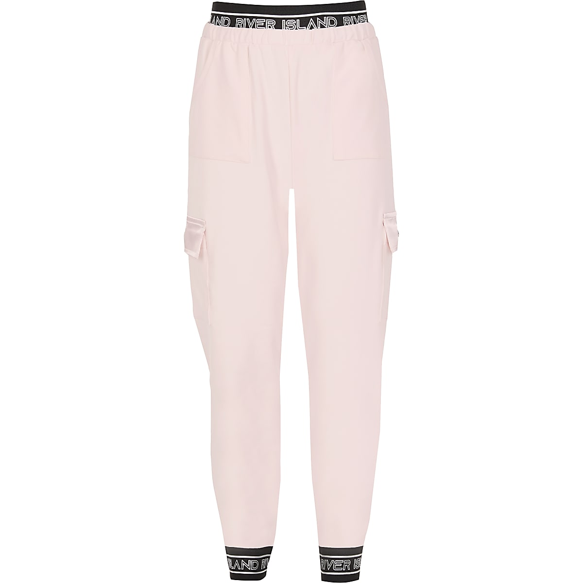 Girls light pink RI Active utility joggers