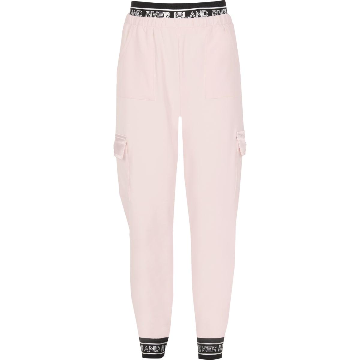 RI Active– Pantalons de jogging utilitaires rose clair pour fille