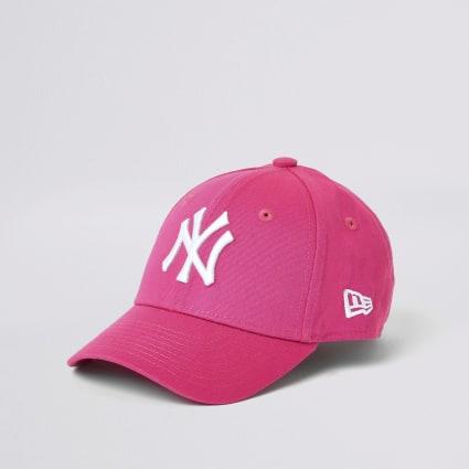 Mini girls New Era NY pink cap