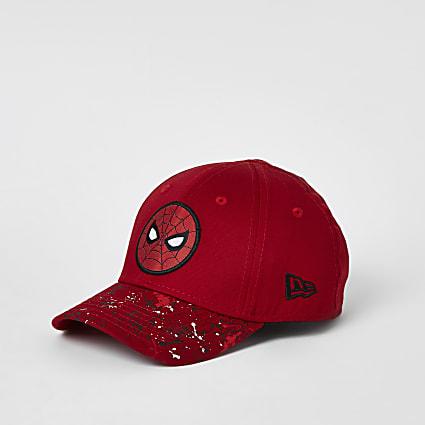 Mini boys New Era red Spiderman hat