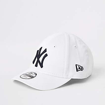 Mini kids white New Era NY cap