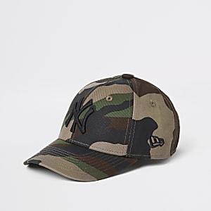 New Era – Camouflage-Kappe für kleine Jungen in Khaki