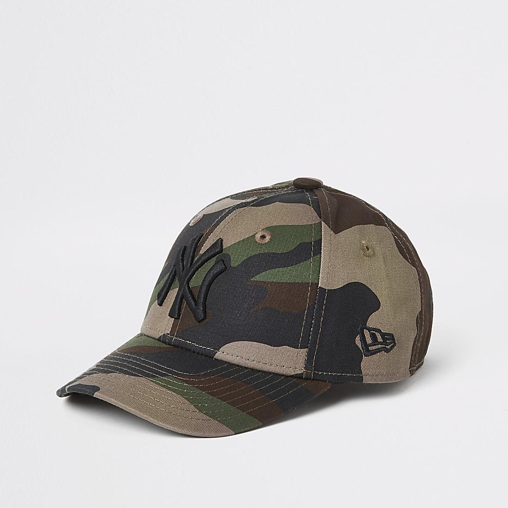 Mini – New Era – Camouflage-Kappe in Khaki für Kinder
