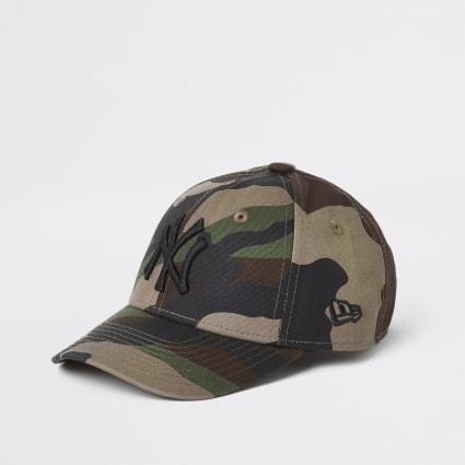 Mini boys New Era khaki camo cap