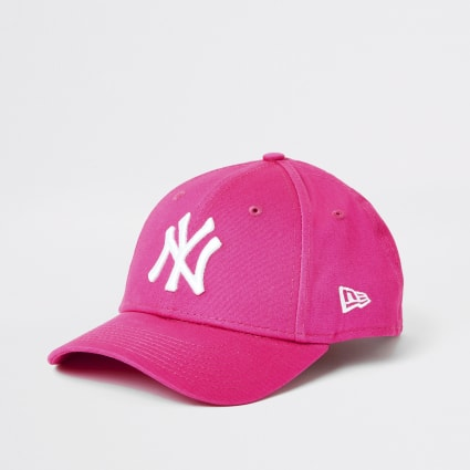 Girls New Era NY pink cap